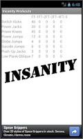 Screenshot of Insanity Workouts Schedule