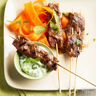 Five-Spice Beef Kabobs.