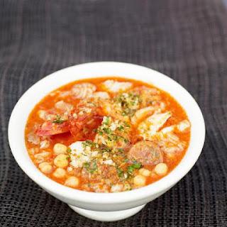 Spanish Fish & Chorizo Soup.
