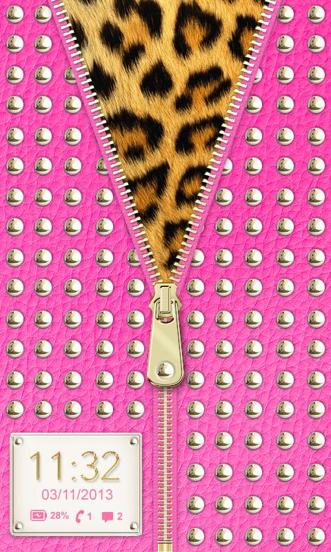 ☀ Hot Pink Studded Zipper ☀- screenshot
