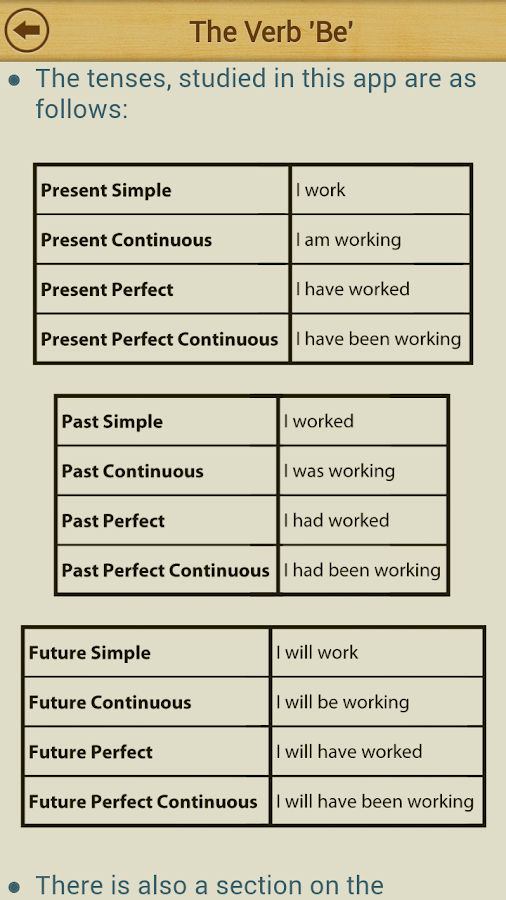Grammar Express : Tenses- screenshot
