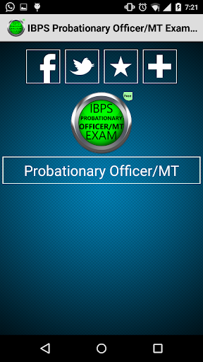 IBPS ProbationaryOfficerMTFREE