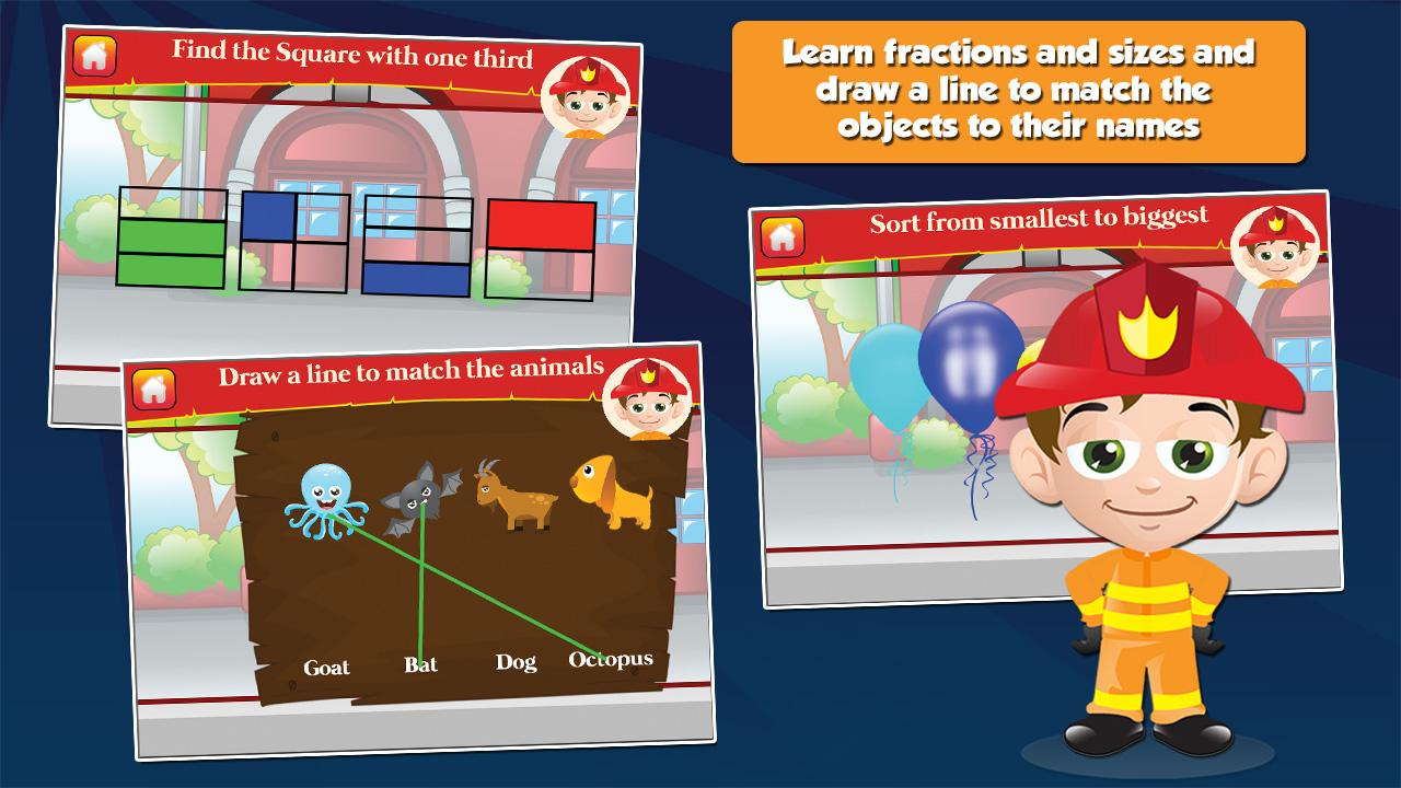 Fireman Kids Grade 1 Games- screenshot