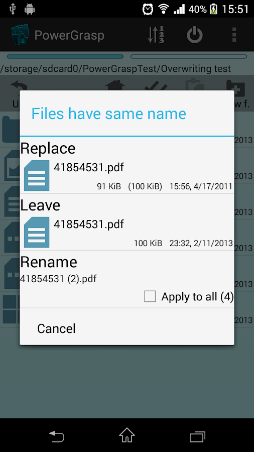 PowerGrasp file manager - screenshot