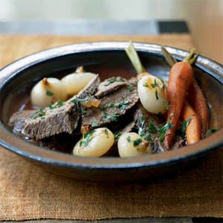 Vinegar-Braised Beef with Thyme, Carrots, and Onions
