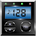 Digital metronome icon