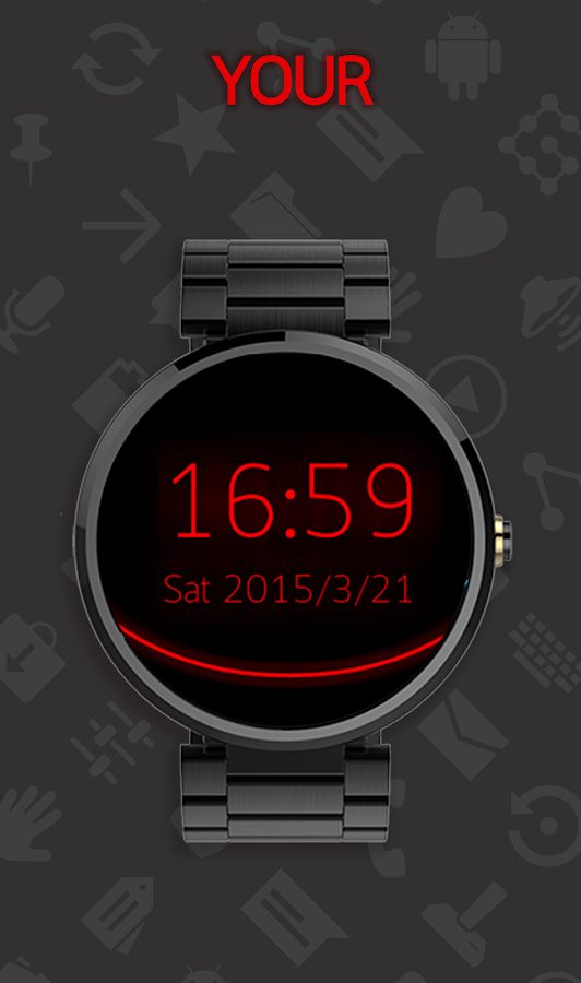 Holo Watch face- screenshot