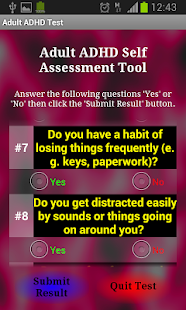 Adult ADHD Test screenshot