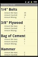 Screenshot of Inventory Tracker