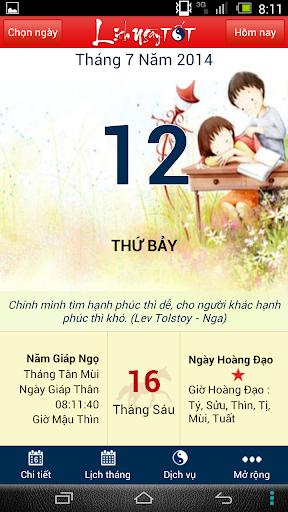 Lich ngay TOT - Lich Van Su
