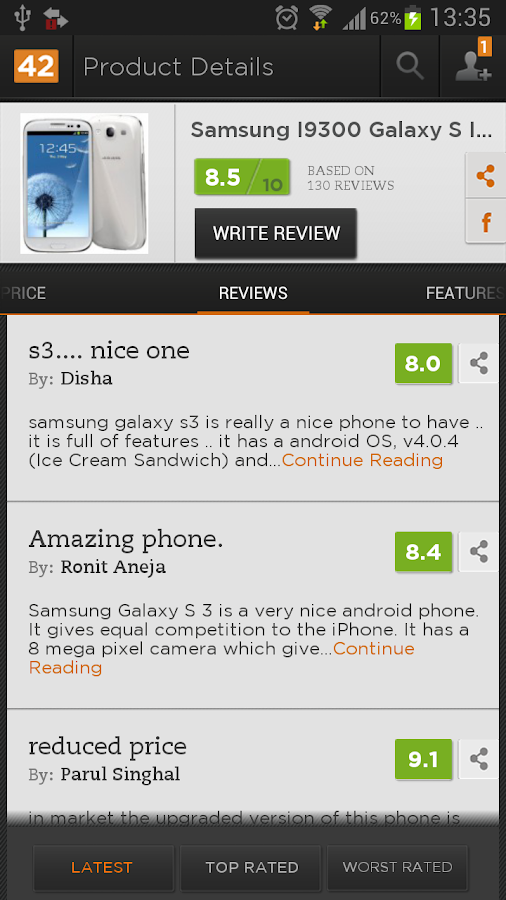 Reviews42 Price Comparison App - screenshot