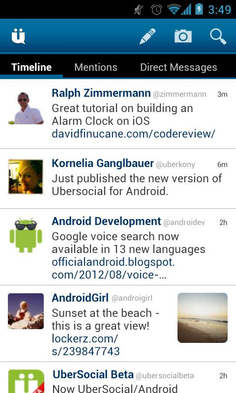 UberSocial for Twitter - screenshot
