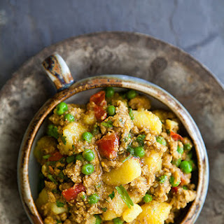 Curried Ground Turkey with Potatoes.