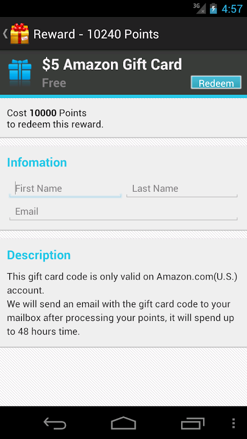 Free Gift Cards - screenshot