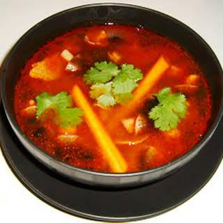 Tom Yum Koong Soup.