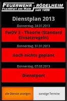 Screenshot of Dienstplan FF Rödelheim
