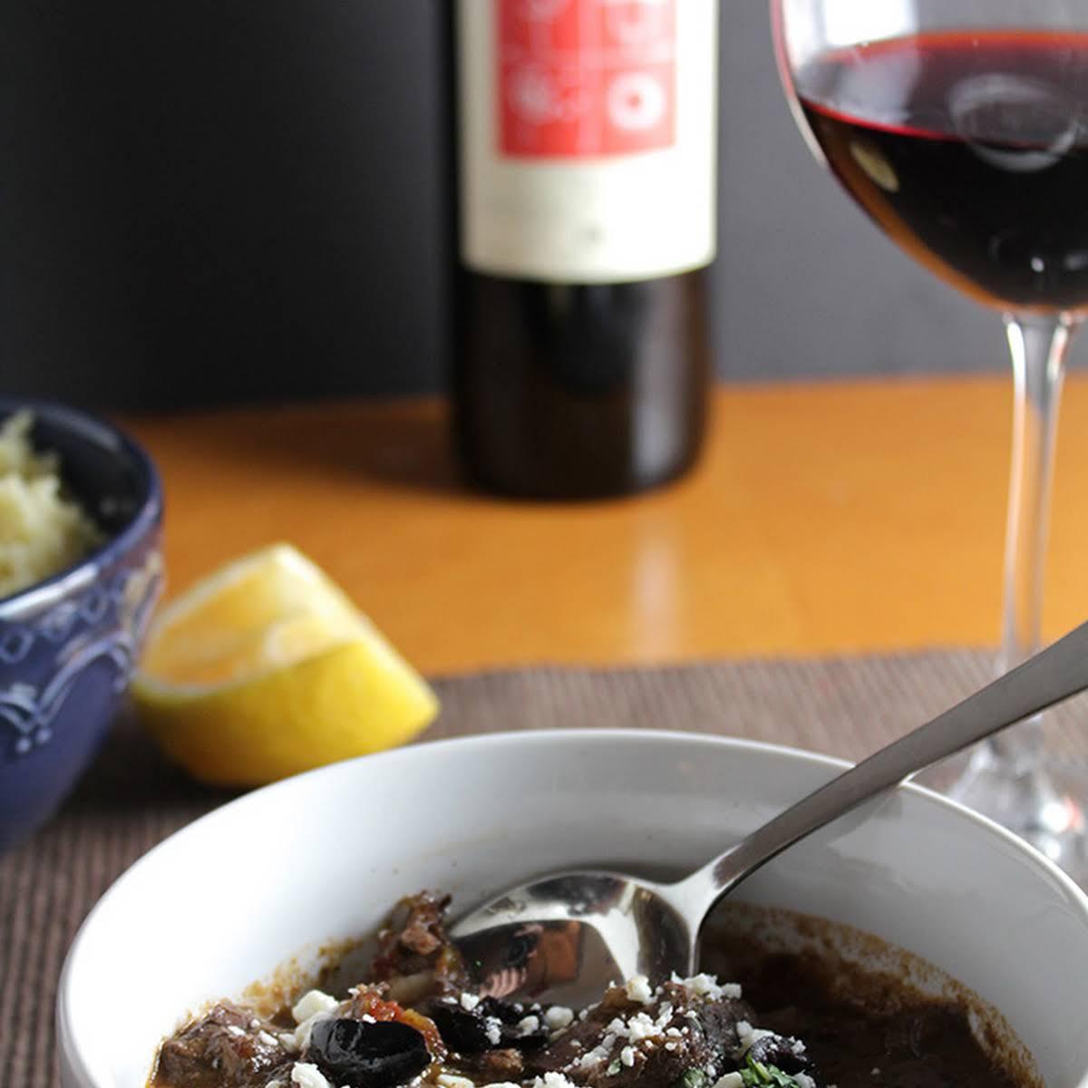 Greek Lamb Stew and Wine Pairing #winePW