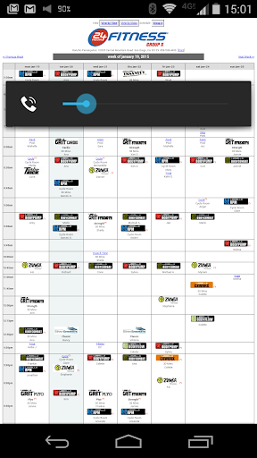 PQ Class Schedule