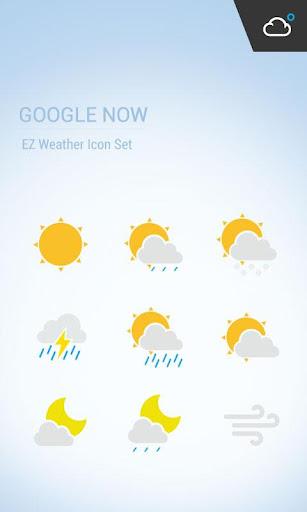 扁平化設計 卡片式風格 物質設計風格天氣圖標包