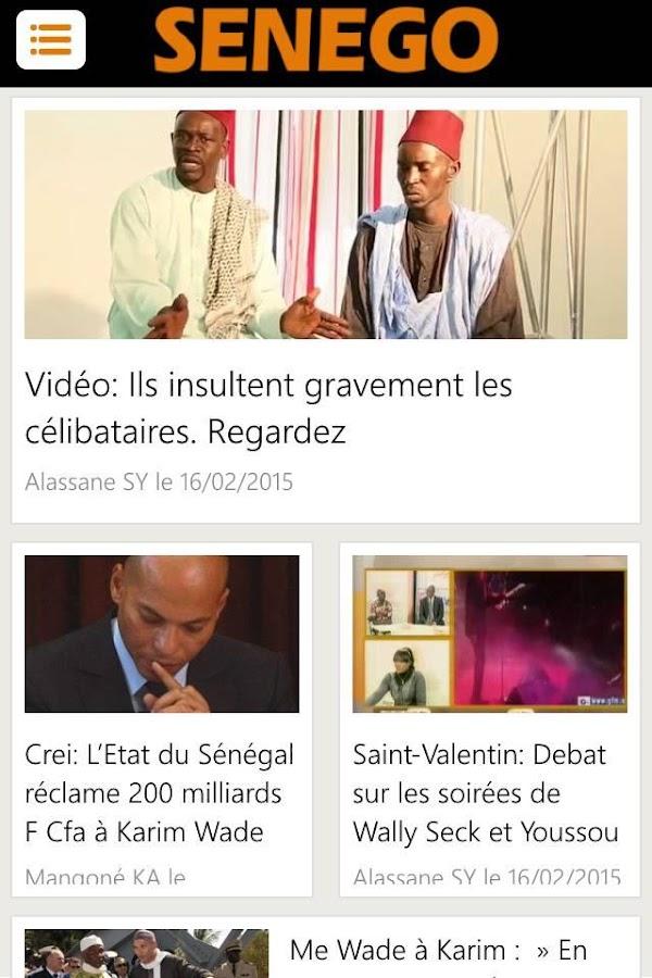 Senego: News in Senegal - screenshot