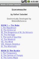 Screenshot of Works of Rafael Sabatini