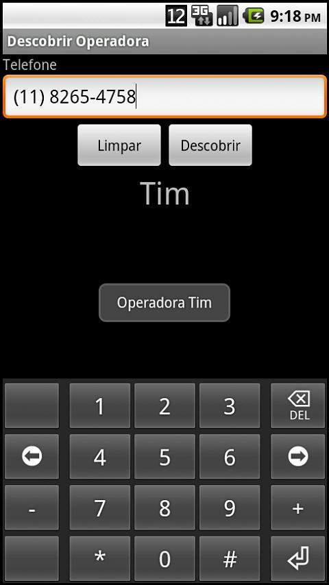 Descobrir Operadora- screenshot