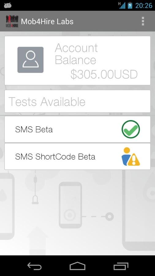Mob4Hire Labs- screenshot