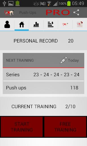 Push ups - Personal trainer
