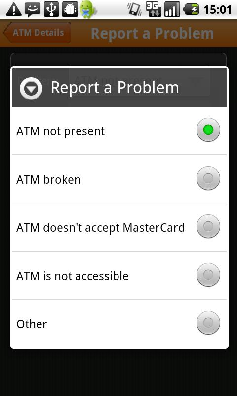MasterCard ATM Hunter- screenshot