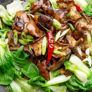 Glazed Shiitake Mushrooms With Bok Choy