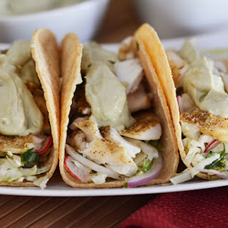Broiled Tilapia Tacos.