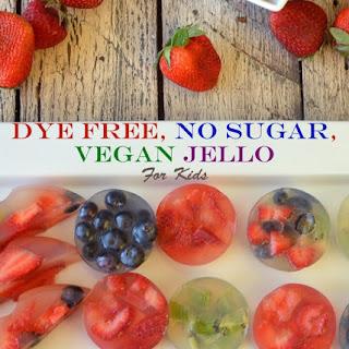 Dye Free No Sugar Jello for Kids.