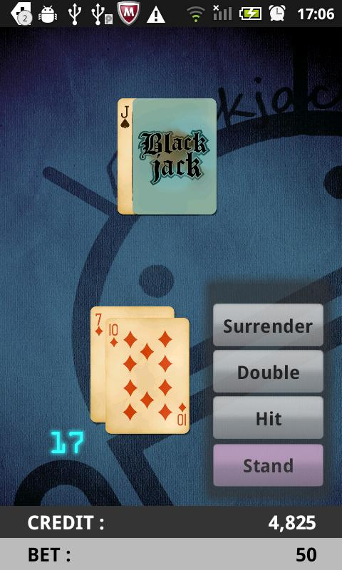 The Simple Blackjack- screenshot