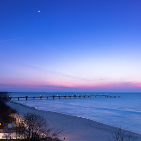 Blue hour-Baltic Sea by Markus Busch - Landscapes Beaches ( ostsee, miedzyzdroje, urlaub, graufilter, langzeit )