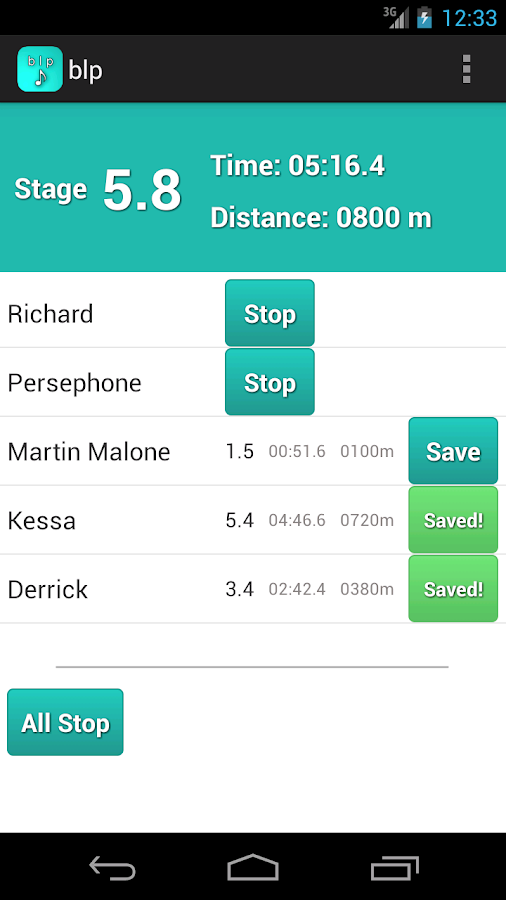 blp - The Bleep Test App - screenshot