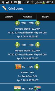 CricScores screenshot