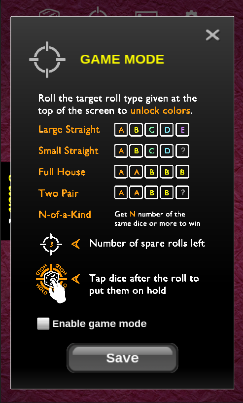 Flick the Dice - screenshot