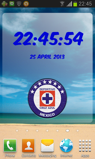 Digital Clock Cruz Azul