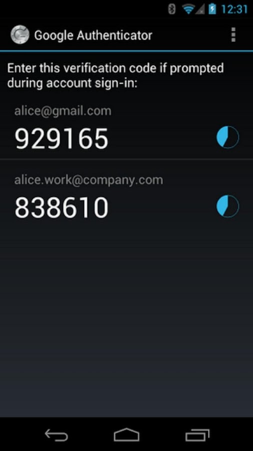 dg Authenticator w/Smart Watch - screenshot