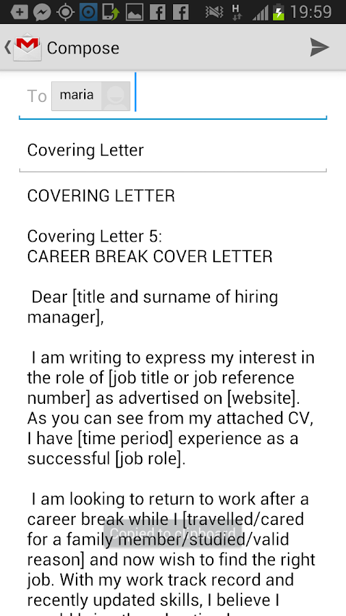 Covering Letter Android Apps Op Google Play
