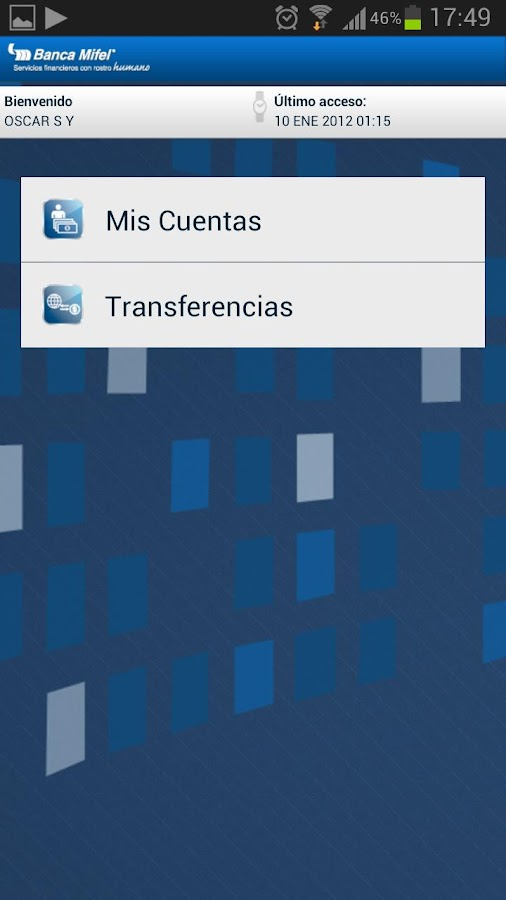 Banca Mifel- screenshot