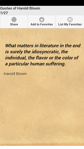 Quotes of Harold Bloom