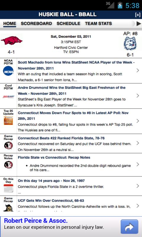 CONN Football & Basketball - screenshot