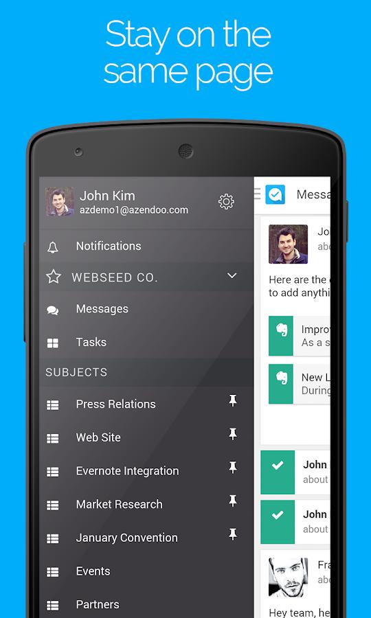 Azendoo, Teamwork simplified- screenshot