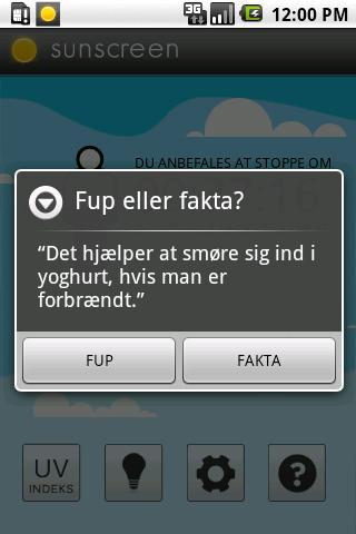 SunScreen (Dansk)- screenshot