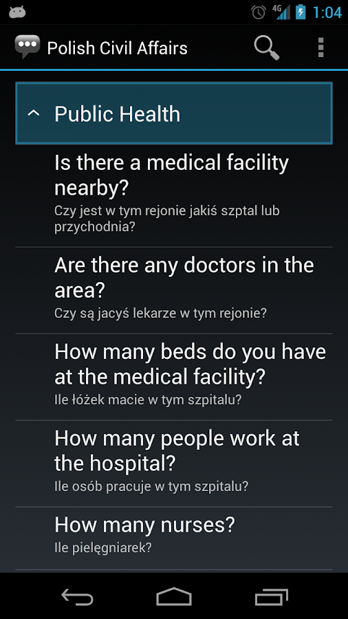 Polish Civil Affairs Phrases - screenshot