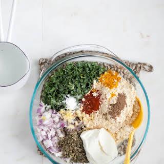 Kadhi Kale Pakora {Kale Fritters in Spiced Yogurt Gravy}.