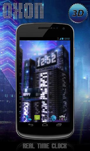 【免費個人化App】Space City Free 3D LWP-APP點子