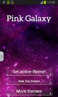 Screenshot of Pink Galaxy Keyboard