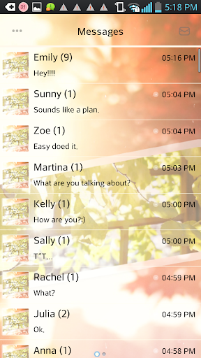 Goodbye Autumn go sms theme